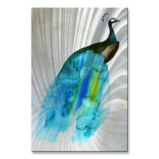 'Peacock II' by Christine Lindstrom Painting Print Plaque