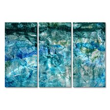 'Deep Sea' by Michele Morata 3 Piece Graphic Art Plaque Set