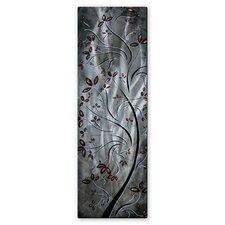 'Metallic Blossom' by Megan Duncanson Original Painting on Metal Plaque