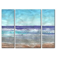'Bright Surf' by Keith Wilke 3 Piece Painting Print Plaque Set