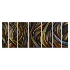 'Waving Grains' by Michael Lang 7 Piece Graphic Art Plaque Set