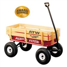All-Terrain Steel & Wood Wagon Ride-On