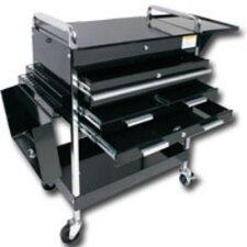 "Deluxe 34.25"" Wide 4 Drawer Service Cart"