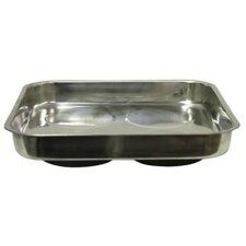 """11"""" X 11"""" Stainless Steel Magnetic Parts Tray"""