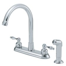 Sheridan Double Handle Deck Mount Kitchen Faucet with Spray