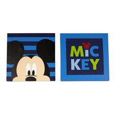 Mickey Mouse Canvas Art (Set of 2)