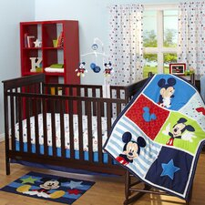 Mickey Mouse 3 Piece Crib Bedding Set
