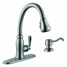 Pavilion Single Handle Kitchen Faucet with Soap Dispenser