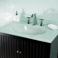 """31"""" Glass Vanity Top with Sink"""