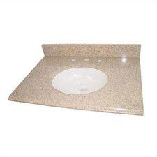 "61"" Granite Double Bowl Vanity Top with Sink"