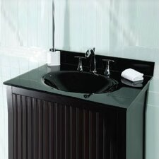 """49"""" Glass Vanity Top with Sink"""