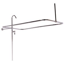 End Mount Shower Riser with Enclosure for Tub Wall Faucets