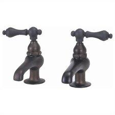 Bathroom Faucet Set with Metal Lever Handles