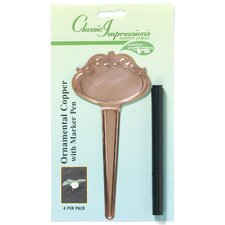 Classic Impressions Copper Plant T-Label (Set of 12)