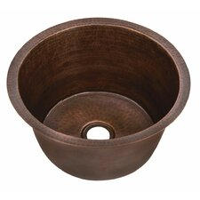 """15"""" x 15"""" Small Round Bar Sink with Flat Bottom"""