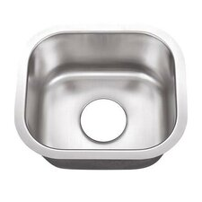 "13"" x 18"" Undermount Single Bowl Kitchen Sink"