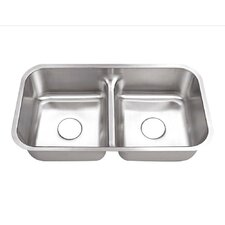 "12"" x 22"" Undermount Double Bowl Kitchen Sink"