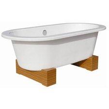 "68"" x 34"" Contemporary Cast Iron Soaking Bathtub"