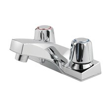 Pfirst Series Double Handle Centerset Standard Bathroom Faucet with Metal Handles