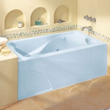"""Cadet 60"""" x 32"""" Air/Whirlpool Bathtub with Hydro Massage System l / Integral Apron and Right Hand Outlet"""
