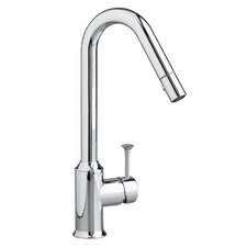 Pekoe Single Handle Single Hole Pull Down kitchenFaucet with Hi Flow Spout and Pull Out Spray
