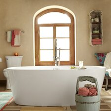 "Coastal 68.75"" x 31.25"" Soaking Bathtub"