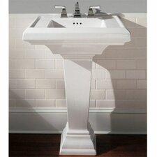 "Town Square 24"" Pedestal Bathroom Sink Set"
