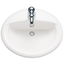 Aqualyn Self Rimming Bathroom Sink with Extra Hole
