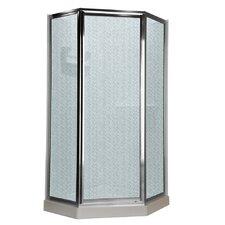 """68.5"""" Neo Angle Hammered Shower Door"""