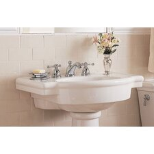 Retrospect Pedestal Bathroom Sink with Center