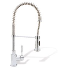 Meridian Single Handle Deck Mounted Kitchen Faucet with Pull Down Hand spray