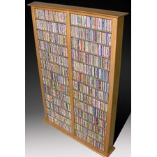 VHZ Entertainment Large Double Multimedia Storage Rack