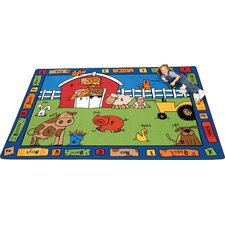 Literacy Alphabet Farm Kids Rug