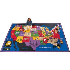 Geography Discover America Area Rug