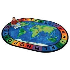 Printed Circletime Around the World Area Rug