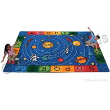 Printed Milky Play Literacy Area Rug