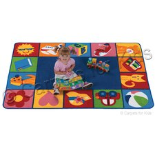 Printed Toddler Blocks Area Rug