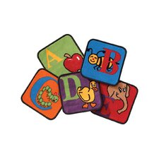 Reading by the Book Squares Alphabet Area Rug (Set of 26)