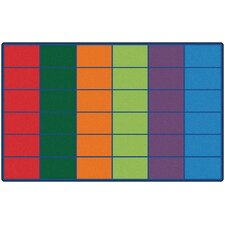 Colorful Seating Rows Kids Rug