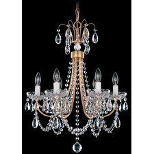 Lucia 6 Light Crystal Chandelier