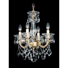 La Scala 4 Light Convertible Chandelier