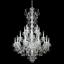 Century 20 Light Chandelier with Handcut Crystal