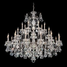 Century 28 Light Chandelier with Handcut Crystal