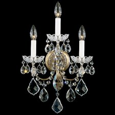 New Orleans Wall Sconce in French Gold with Handcut Crystals