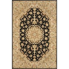 Silk Pearl Black/Light Gold Area Rug