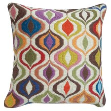Bargello Waves Wool Throw Pillow