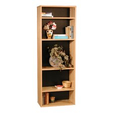 "Modular Real Oak Wood Veneer Furniture 65.5"" Standard Bookcase"