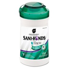 Professional San-Hands Ii Sanitizing Wipes, 150/Can