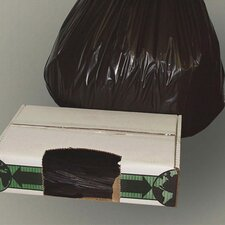 """38"""" x 60"""" Linear Low-Density Ecosac with 2 Mil in Black"""