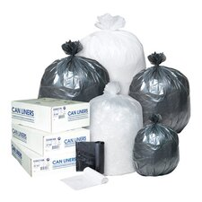 16 Gallon High Density Can Liner, 8 Micron in Black
